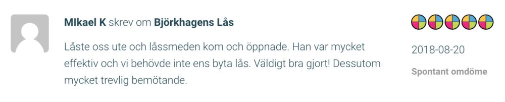 Låssmed Liljeholmen recension